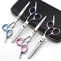 Tesoura de cabelos de 6 polegadas Japão 440C de alta qualidade salão de cabeleireiro tesoura barbeiro tesouras de cabelo corte profissional