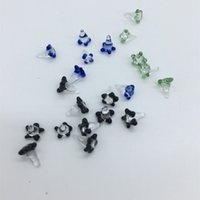 Telas de vidro policromáticas coloridas para tubulação de mão tubagem de margarida flor de quartzo banger buraco buraco dólar unhas à prova de poeira acessórios para fumar 267 v2