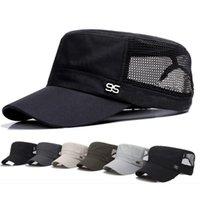 Cords, Slings And Webbing 2021 Stylish Zinc Alloy 95 Logo Unisex Flat Roof Hat For Men Cadet Bush Mesh Baseball Field Caps Climbing A