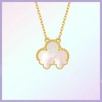Классическое 18-каратское золото счастливый четырехлистник клевера ожерелье со стильной личностью