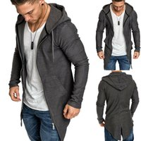 Men's Sweaters Spring Hooded Cloak Long Cardigan Coat Europe And America Windbreaker Knitted Sweater Big Size 3XL