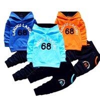 Bebek Giyim Setleri Çocuk 2 3 4 5 6 Yıl Doğum Günü Suit Erkek Eşofman Çocuklar Marka Spor Suits Hoodies Top + Pantolon 2 adet Set X0802