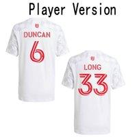 2021 New York Red Player Version Soccer Jersey # 6 Duncan Long Royer موحدة رجالي # 37 Clark Kaku Casseres Jr. قميص كرة قدم