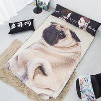 New Home Textile 3D carino carlino cane gatto gatto morbido copriletto leggero bambini letto adulto letto divano calda coperta irregolare coperta estate trapunte