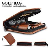 Golf multifunction bag handbag Accessories bag for Golfer Gift brown Set Kit Tool Carrying Bag Range finder knife brush