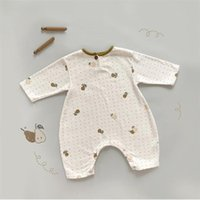 Clothing Sets Arrival Toddler Baby Romper Pear Cotton Long Sleeve Born Clothes Set Sleepwear Printed Fruit Infant Boys Jumpsuit