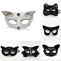 реквизит маски Хэллоуин косплей спектакль стадия наполовину кружева сексуальное женское животное кошка рождественская вечеринка маска дропшиппинг