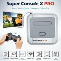 Super Console X Pro HD HD 4K Uscita HDTV 64G / 128G / Mini console portatile Arcade Kids Retro gioco Emulator Console Can Negozio 50K Giochi gratis
