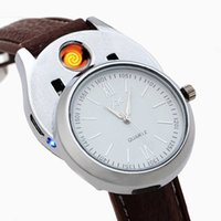 2020 Men Casual Watches Fashion Rechargeable USB Lighter Windproof Flameless Cigarette s H0909