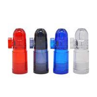 Plastic Snuff Dispenser Bullet Rocket Snormer Smoking Acqua Tubo Bongs Rotolamento Sigaretta Sigaretta Tabacco Tubo DABBER BUBBLELS NARNAH 465 R2