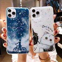 Lüks Sevimli Kedi Bling Glitter Yıldız Sequins Silikon Telefon Kılıfı iphone 11pro Max SE XS Max XR x 6 7 8 artı Karikatür Yumuşak Kapak