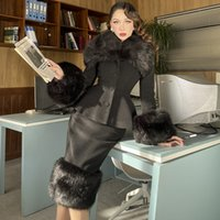 Le Palais Vintage 2021 Primavera originale New Black Deluxe Pelle Giacca Giacca Moda Fashion Female Bkor