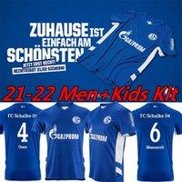 2021 2022 Huntelaar Schalke 04 Jersey da calcio 21/22 Kucucu Bentaleb Raman Hoppe Harit Serdar Jersey Uomo Camicia da calcio Pantaloncini Dimensioni 4XL Uniformi