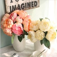 6 cabeças artificiais rosa peônia seda flor buquê festival dia dos namorados aniversário presente de aniversário casamento mesa arranjos decoração 241 s2