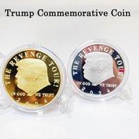 ترامب إعلان جمع العملة هدية دونالد تتفوق من الفضة مطلي العملات التذكارية الحرف العملة