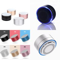 A10 Wireless Mini Bluetooth Speaker Portable Handsfree Speakers with FM TF Card Slot LED Audio Player for MP3 Tablet PC in Box2021i