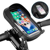 방수 자전거 오토바이 전화 홀더 자전거 전화 터치 스크린 가방 6.4inch 자전거 핸들 바 홀더 아이폰 12Pro 삼성