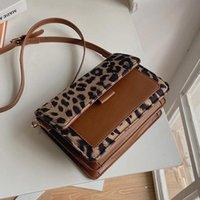 Evening Bags Leopard PU Leather Nylon Shoulder Crossbody For Women 2022 Vintage Women's Designer Small Handbag Female Travel Flap Bag