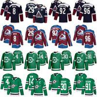 Nathan Mackinnon 8 Cale Makar Hockey Jerseys 92 Gabriel Landeskog 96 Mikko rantanen 91 타일러 Seguin 14 Jamie Benn 30 Bishop 4 Heiskanen