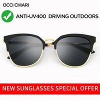 Occi Chiari Gafas de sol Mujeres 2020 Polarizadas Oversizadas de Sol de Metal Gafas de sol de lujo Conducción GOGGLE UV400 ZONNEBRIL ACCICA X0125