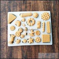 Mods Bakeware Kitchen, Saving Bar Home Gardensnowman Biscotto Snack Pulsante Mod Per FAI DA TE Bambino Bambino Bambino Cake Birthday Fondant Cioccolato Sile Candy Stampo