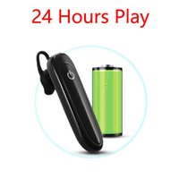 24 Hours Play Business Bluetooth Headset Car Bluetooth Earpiece Hands Free with mic ear-hook Wireless Earphone for iPhone