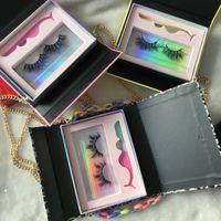 체인 25mm 밍크 속눈썹 3D 5D 눈 속눈썹 맞춤 속눈썹 포장