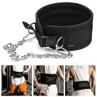 Ceinture de levage de poids avec la ceinture de trempette de la chaîne pour traction menton up kettlebell barbell gymnase de bodybuilding 1