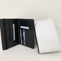 بو الجلود المحفظة التسامي فارغة حامل جواز السفر diy صور محفظة اثنين لون حاملي بطاقة البنك هدية عيد ميلاد لصديق