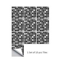 Duvar Kağıtları Su Geçirmez Soba Mozaik Mutfak Dolabı Duman Geçirmez Sticker Kendinden Yapışkanlı Duvar Banyo Çini Duvar Kağıdı 10 ADET