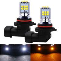 2 unids HB4 9006 HB3 9005 H10 Súper brillante 1800LM Cree Chip LED bombillas Auto antiiezno luces Automóvil Lámpara de conducción Foglamps Amarillo Blanco