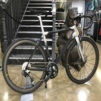 Carrowter C64 Parlak Şerit Mat Karbon Yol Komple Bisiklet ile 105 R7010 Groupset 50mm Wheelset