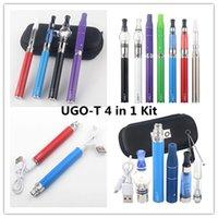 UGO 4 1 eGo Vape Kalem Batery ile 4 EVOD Buharlaştırıcı Yağ Mumu Kuru Ot 1100/900/650 mAh Mini Başlangıç Kiti