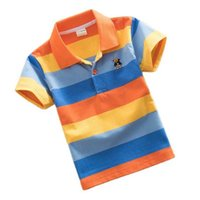 نوعية جيدة أطفال الصبي قمم الصيف الأطفال الملابس مخطط قصيرة الأكمام قميص بولو للأولاد الأطفال قمم الأولاد ملابس 210719