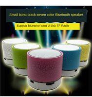 4.0 Alto-falante Bluetooth Mini A9 Sem Fio Loudspeaker Rachado LED TF Subwoofer Subwoofer Audio Móvel MP3 Formato Música Estéreo Player