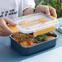 Dinnerware Sets TUUTH Stainless Steel Microwave Lunch Box Storage Container Children Kids School Office Portable Bento