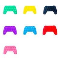 Die-dye Bubble Poppers Camouflage Stress Balls Gamepad Fidget Pads Toys Push Mental Arithmetic Sensory Soft Squeeze