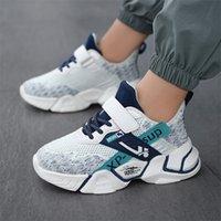 Scarpe casual per bambini Ragazzi Sneakers leggero Sneakers Studente Studente Summer Size 5 8 9 12 13 anni Maglia Sport calzature invernali Spider 7-12Y 210303