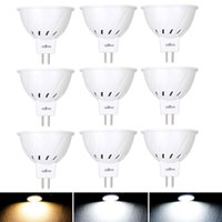 Ampuller 10 adet / grup MR16 12 V 24 V LED Işık 220 V 110 V SMD 2835 Spot 3 W 5 W 7 W 36 54 72LED Beyaz Mr 16 Lamba Ev Için