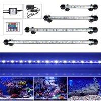 EU US Plug RGB Remote Aquarium Fish Tank Waterproof 5050 SMD LED Bar Light Aquatic Lamp Submersible 18-48CM