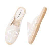 2021 Tienda Soludos espadrilles Pantoufles pour pour Appartement 2019 Real Offre spéciale de chanvre Été en caoutchouc en caoutchouc femme chaussures Mules Pantufa