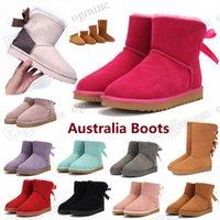 2021 Classic australia wgg women platform womens boot girls lady bailey bow winter fur snow Half Knee Short boots 36-42