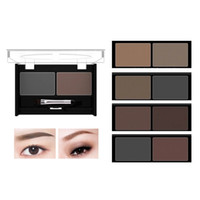 MYG Duplo Sobrancelha Maquiagem De Pó Com Brows Brush 4 Color Paleta Natural De Duração Água à Prova D 'Água Prova Prova Coloris Cosméticos Sobrancelhas