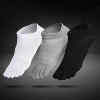1 pair Breathable Unisex Men Women Socks Sports Ideal For Five 5 Finger Toe Shoes Sale solid Mesh socks men