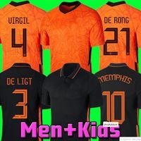Memphis 2021 Нидерланды Футбольная футболка de jong Holland de light Strootman van dijk virgil 2022 Футбол Джерси 20 21 22 Дом Взрослые Мужчины +