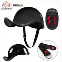 Мотоциклетные шлемы Wosawe Взрослый Половина лица Винтаж езда Шлем Шляпа Шапки Мужчины / Женщины MotorCross Moto Racing Motorbike Capacete