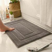 Carpets Living Room Carpet Home Bath Mat Non-slip Bathroom Solid Color Water Absorption Rug Bedroom Doormat