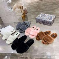 Amor mujer algodón zapatillas moda d r luxurys diseñadores dama zapatilla lana deslizamiento de invierno piel ffy peludo letras sandalias calentar cómodas