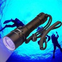 Topcom Professional UV Led subacquee Durata dura 3W XPE LED Ultraviolet Light IPAWQUS IP68 Scuba Diving Torch