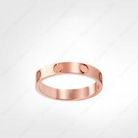 Anel de parafuso de amor anéis de desenhador de desenhista clássico designer de jóias mulheres anéis de ouro titânio aço-banhado a ouro nunca fade não alérgico-rose ouro